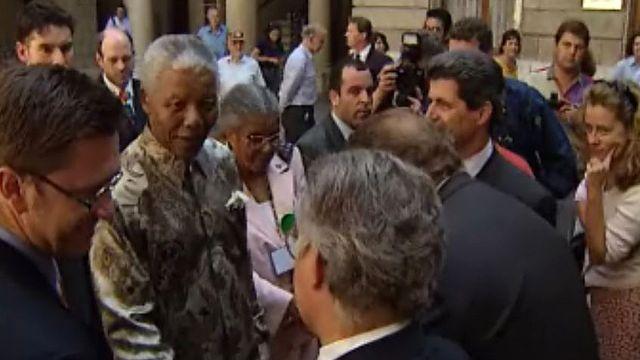 Le président sud africain est reçu à Genève. [RTS]