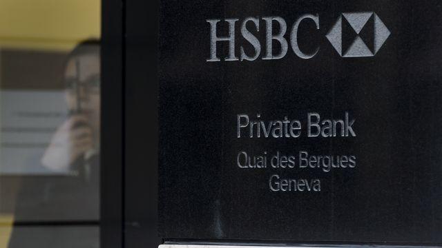 La banque HSBC perquisitionnée à Genève. [Fabrice Coffrini - AFP]