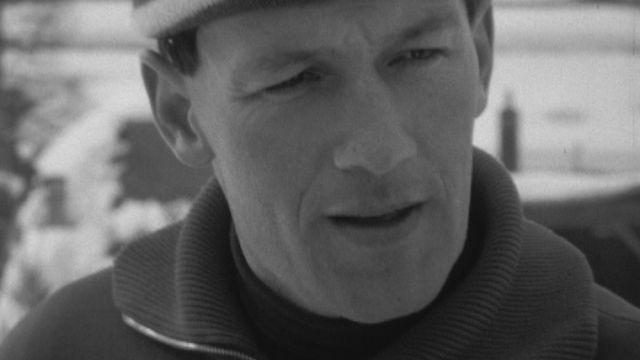 Portrait du fondeur de ski de fond Josef Haas en 1968. [RTS]