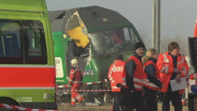 Collision ferroviaire dans le canton de Zurich [RTS]