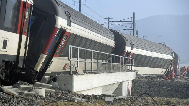 L'accident s'est produit sur un pont en sortie de gare. [Ennio Leanza - Keystone]