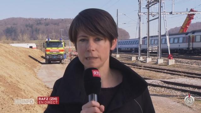ZH-accident de train: les explications d'Anne Fournier, à Rafz [RTS]