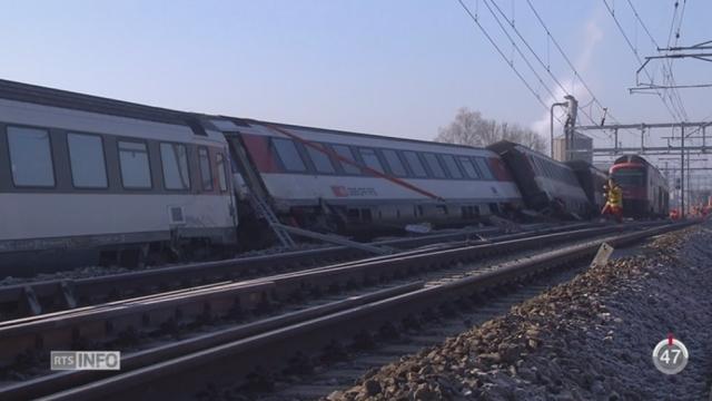 ZH: un accident entre deux trains est survenu à la sortie de la gare de Rafz [RTS]