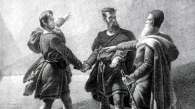 Une évocation du mythe de la création de la Confédération.