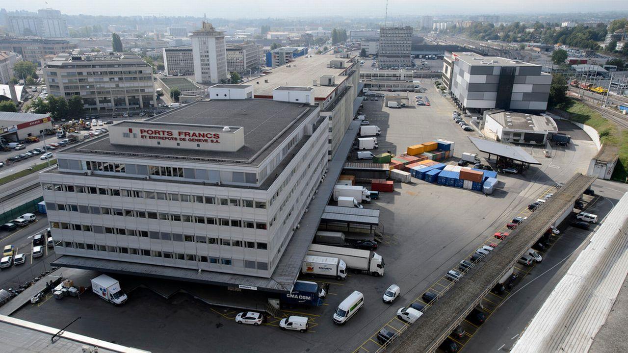 Le Genevois arrêté est l'actionnaire majoritaire des Ports francs de Genève. [Martial Trezzini - Keystone]