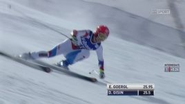 Super combiné, super G dames: Dominique Gisin (SUI) [RTS]