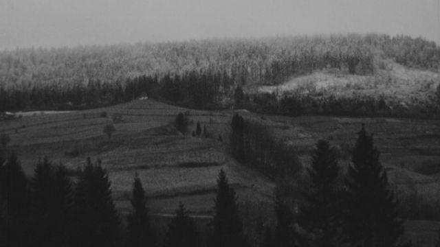 La région de Premier, un petit village du Jura vaudois en 1972. [RTS]