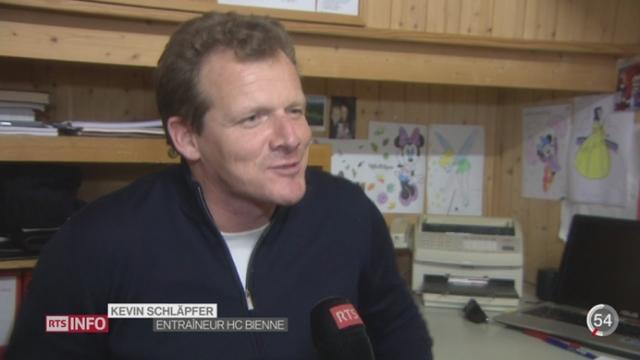 Hockey- LNA: portrait de Kevin Schläpfer, entraîneur-chef du HC Bienne [RTS]