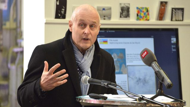 Bernard Fibicher, directeur du Musée cantonal des Beaux-Arts de Lausanne. [Christian Brun - Keystone]