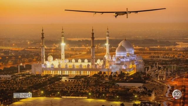 Solar Impulse: Bertrand Piccard et André Borschberg ont débuté ce matin leur aventure de 5 mois [RTS]