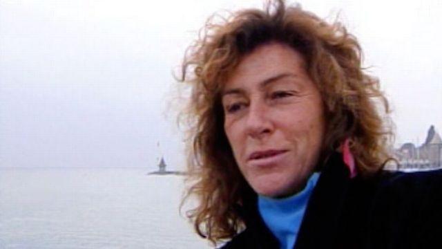 La navigatrice française Florence Arthaud sur les bords du Léman en 2005 [RTS]
