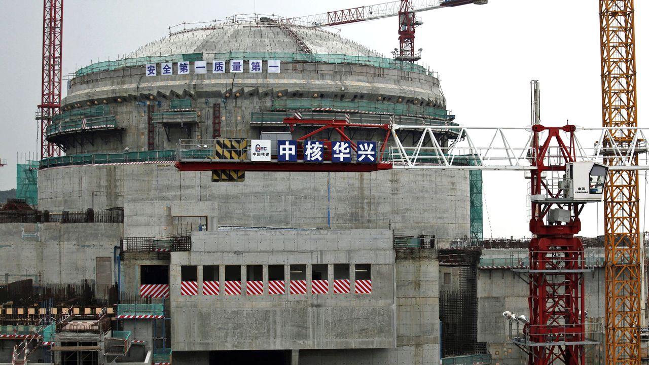 Centrale nucléaire en construction à Taishan dans la province chinoise du Guangdong. [Bobby Yip - Reuters]