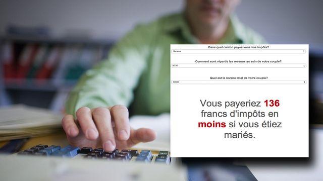 Actuellement, les couples mariés et non-mariés sont traités différemment sur le plan fiscal. [Gaetan Bally]