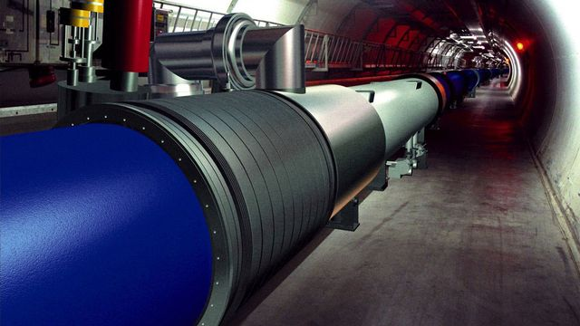 Le grand collisionneur de hadrons du CERN. CERN Photo Keystone [CERN]