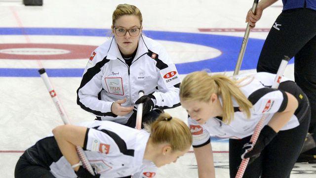 Alina Pätz (au centre) s'est montrée très efficace durant les deux premières journées du Mondial. [Ryosuke Uematsu - Keystone]