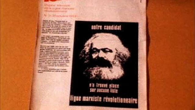 Marx, candidat de la Ligue marxiste révolutionnaire. [RTS]