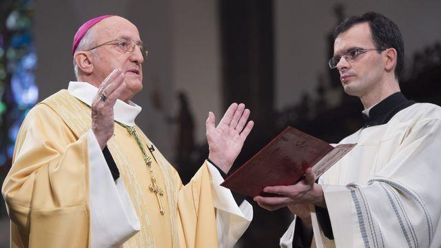 Monseigneur l'abbé Joseph Roduit. [Anthony Anex - Keystone]