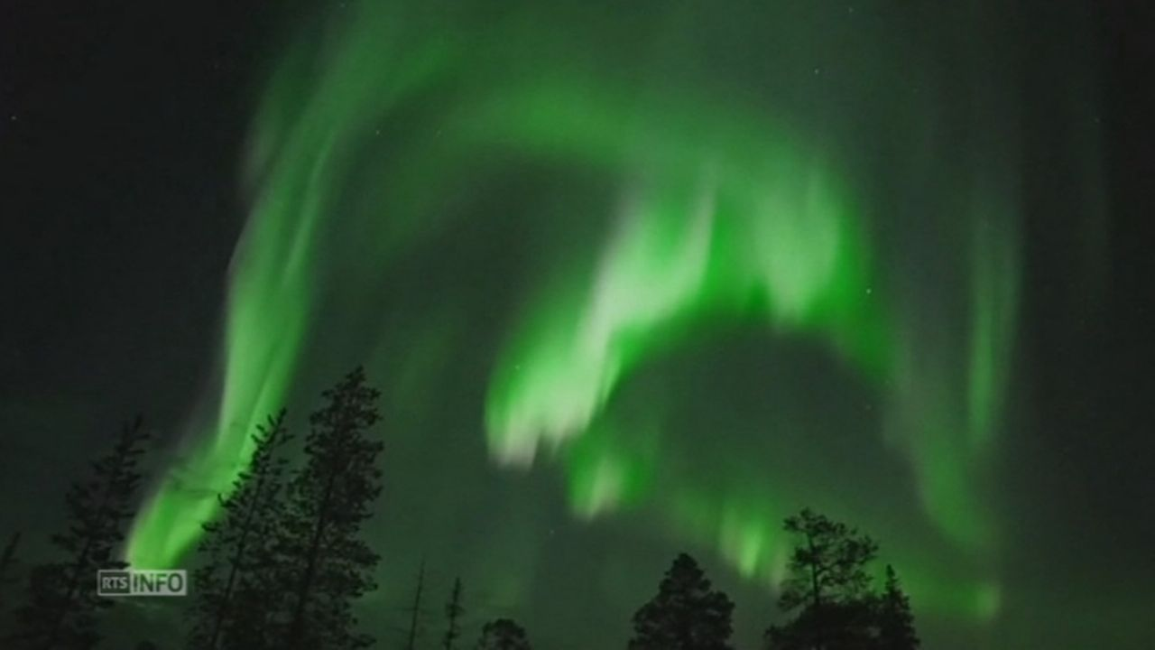 Impressionnantes images d aurores boreales [RTS]