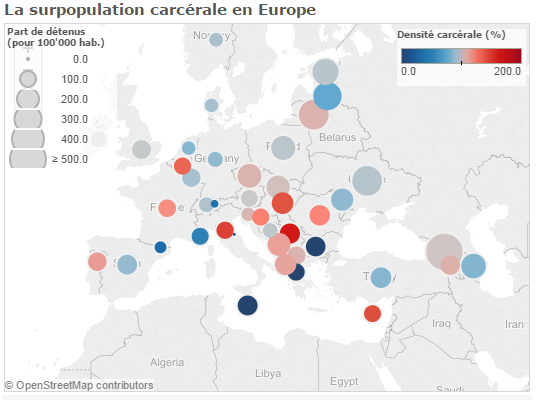 Surpopulation carcérale en Europe
