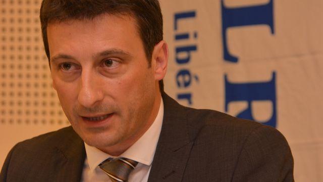 Jacques Gerber, candidat du PLR au Gouvernement jurassien. [Gaël Klein - RTS]