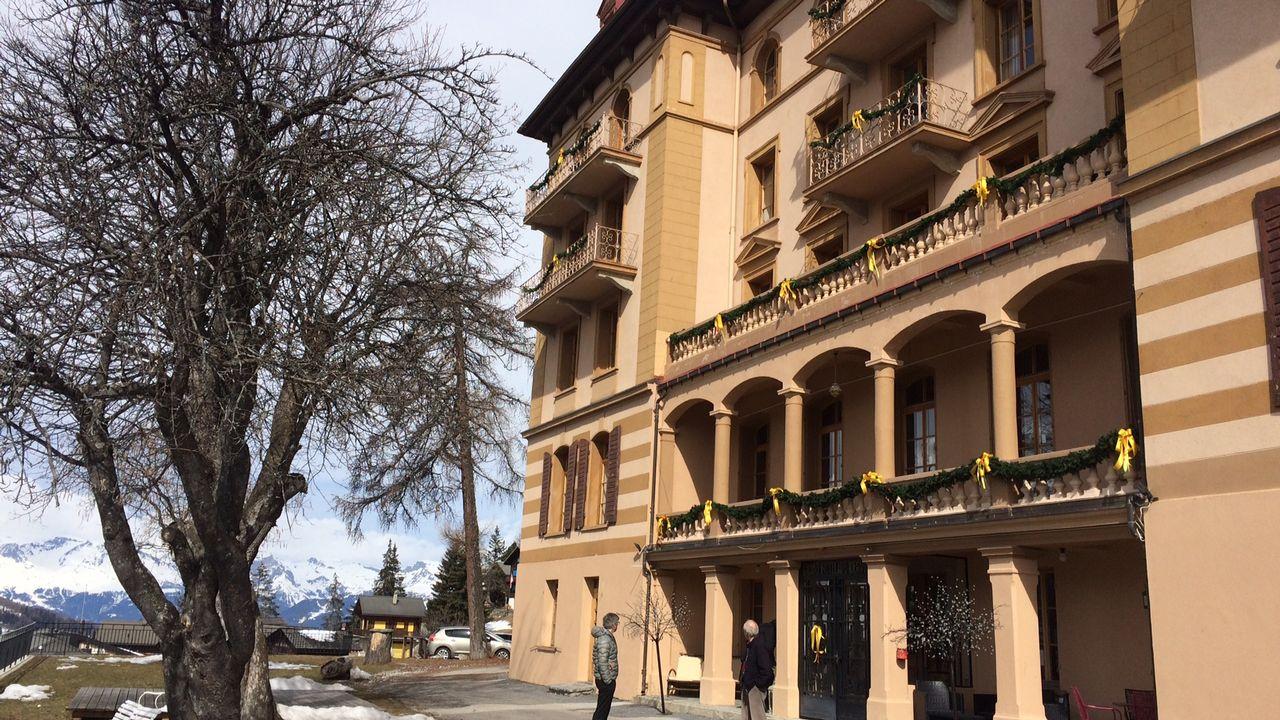 Le Grand hôtel du Cervin à Saint-Luc. [Julien Magnollay - RTS]