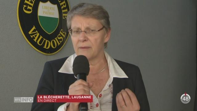 Baisse de la criminalité: les précisions de Béatrice Métraux à Lausanne [RTS]