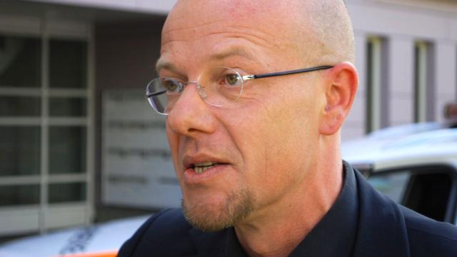 Olivier Guéniat, commandant de la Police cantonale jurassienne. [Gaël Klein - RTS]