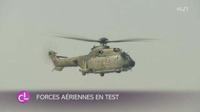 VD: les Forces aériennes de l'armée suisse réaliseront un exercice des troupes STABANTE 15 [RTS]