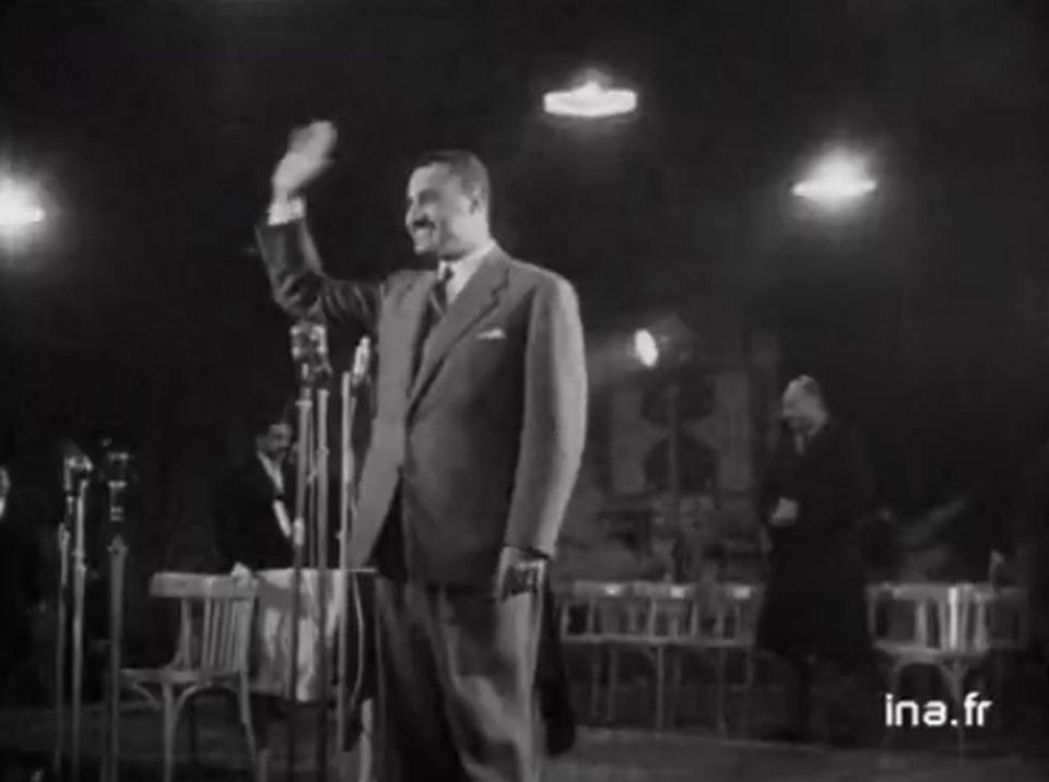 Le Canal de Suez et la nationalisation par le Colonel Nasser. [INA]