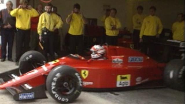 Au Grand Prix de Saint-Marin en 1989. [RTS]