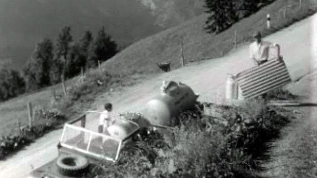 Pour seul contact à l'alpage, le chauffeur de la jeep du lait.