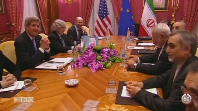 VD: l'accord sur le nucléaire iranien prend une tournure historique à Lausanne [RTS]