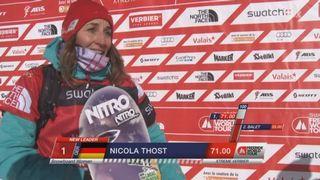 Snowboard dames: Nicola Thost (GER) est la nouvelle championne mondiale [RTS]