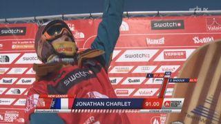 Snowboard hommes: Jonathan Charlet (FRA) s'adjuge le titre avec 91 points [RTS]