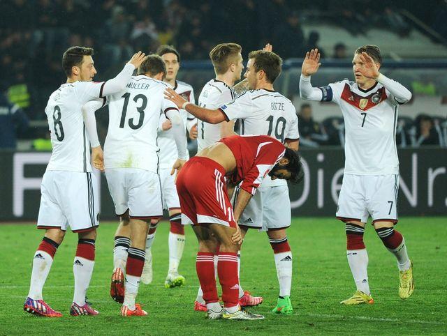 Les champions du monde allemands retrouvent enfin leur jeu, et la victoire! [Shakh Aivazov - Keystone]