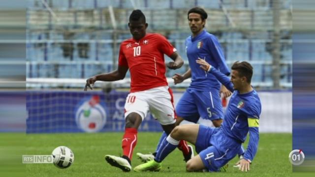 Football: le jeune attaquant bâlois Breel Embolo va faire ses premiers pas avec l'équipe de Suisse [RTS]