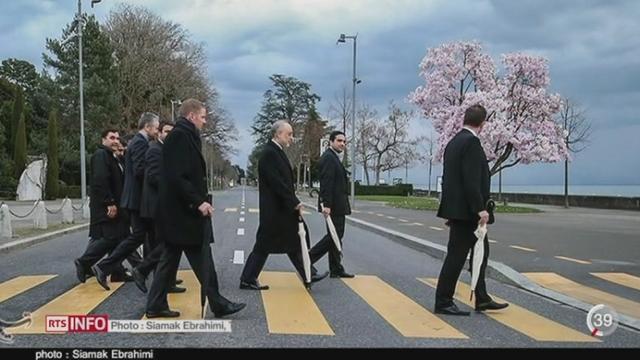Nucléaire iranien: de nombreuses images de Lausanne sont visibles dans la presse mondiale [RTS]