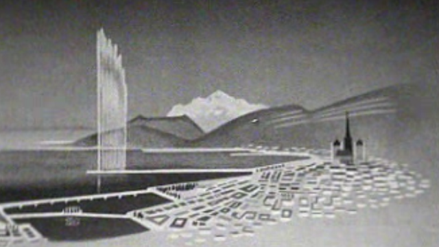 Genève et son jet d'eau. [RTS]