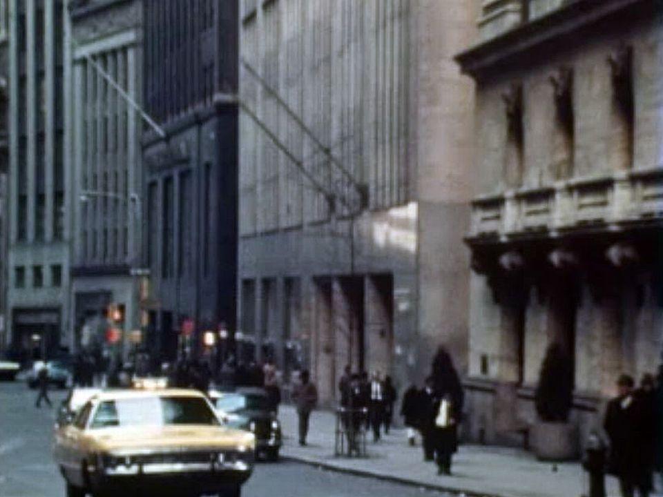 New York 1971, s'enrichir à la bourse de Wall Street. [RTS]