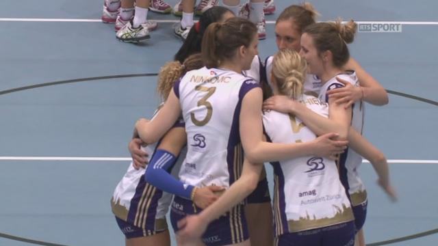 Finale, match 2: Volley Köniz - Volero Zürich (1-2): les Zürichoises maîtrisent la rencontre et s'octroient le troisième set 25-11 [RTS]