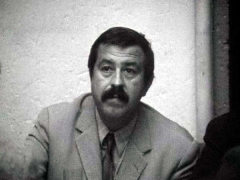 Günter Grass, l'écrivain allemand en campagne politique en 1969. [RTS]