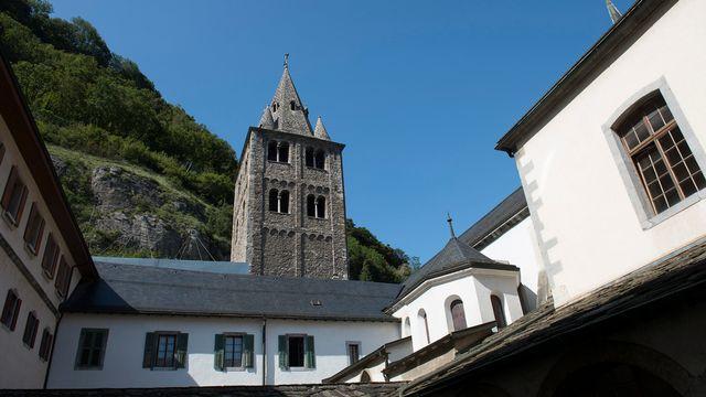 L'Abbaye de St-Maurice, photographiée en août 2014. [Keystone]