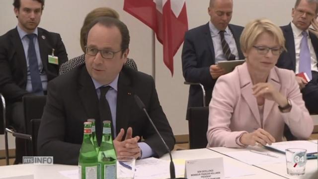 François Hollande a pu observer le système d'apprentissage suisse [RTS]