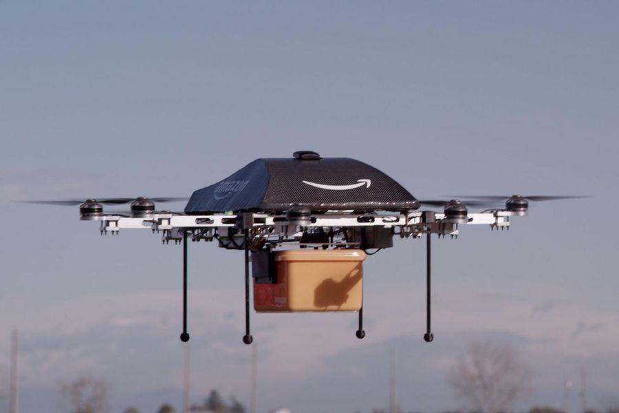 Amazon teste déjà un service de livraison par drone, au Canada et en Angleterre.