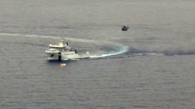 Capture vidéo des garde-côtes italiens. [Guardia Costiera/AFP]