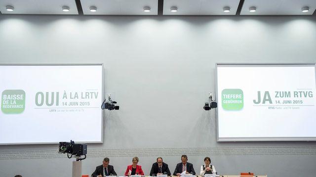 Le comité en faveur de la révision de la LRTV dénonce les attaques de l'USAM. [Peter Schneider - Keystone]