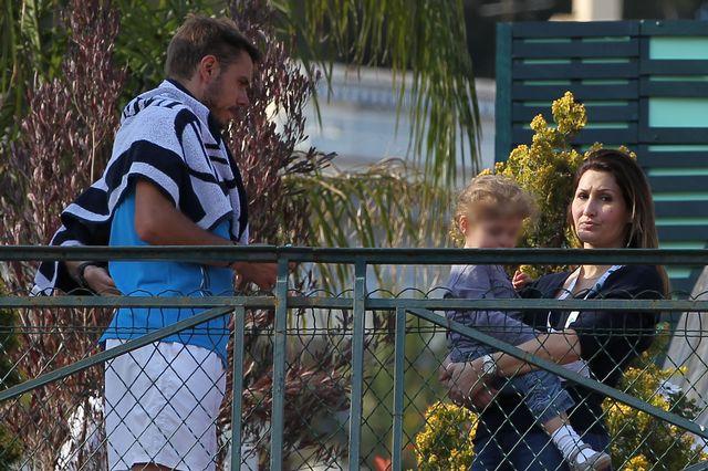 Stan, Ilham et leur enfant, ici à Monte-Carlo en 2013. [Antoine Couvercelle - Tennismag ]