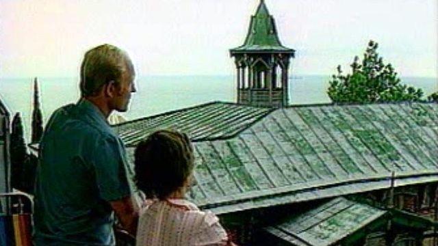 Au bord de la Mer Noire avec une famille russe en vacances. [RTS]