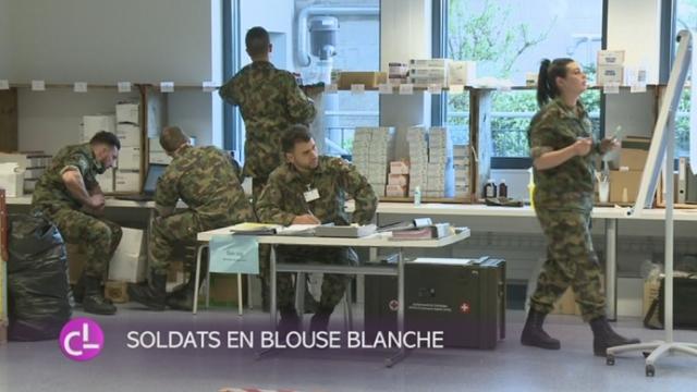 FR: l'armée investit l'hôpital pour un exercice visant à une meilleure collaboration en cas de crise [RTS]