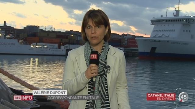 Naufrage au large des côtes libyennes: les explications de Valérie Dupont à Catane [RTS]